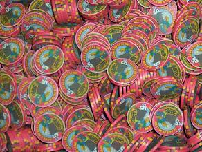 Photo: Rainbow Casino, Chipco chips. Obsolete