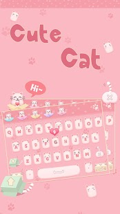 Cute Cat Keyboard - náhled