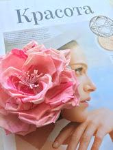 Photo: Роза из крепдешина.