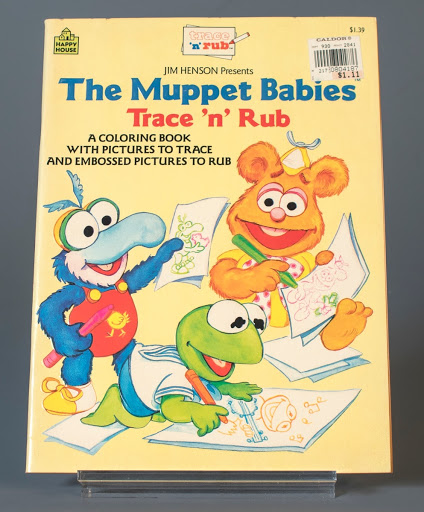 activity book: The Muppet Babies' Trace 'n' Rub
