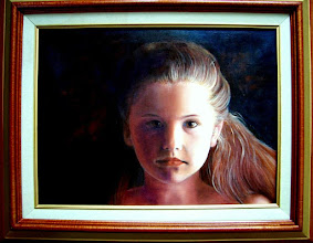 "Photo: The Girl in the Shadow.  12 x 16"" Oil on canvas."