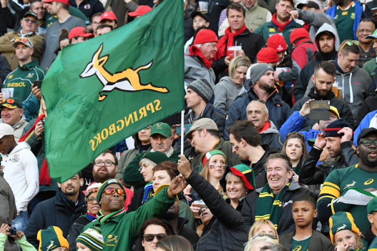 Fans of the Springboks during the Rugby Championship match between South Africa and Argentina at Nelson Mandela Bay Stadium on August 19, 2017 in Port Elizabeth, South Africa.