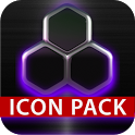 icon pack HD 3D glow purple icon