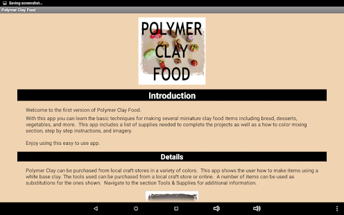 Polymer Clay Food- screenshot thumbnail