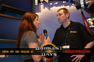 Photo: Chelsey interviewing Tim Browne from Operation Flashpoint: Dragon Rising
