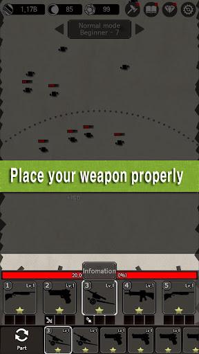 Idle Guns : Pixel Defense  captures d'u00e9cran 1