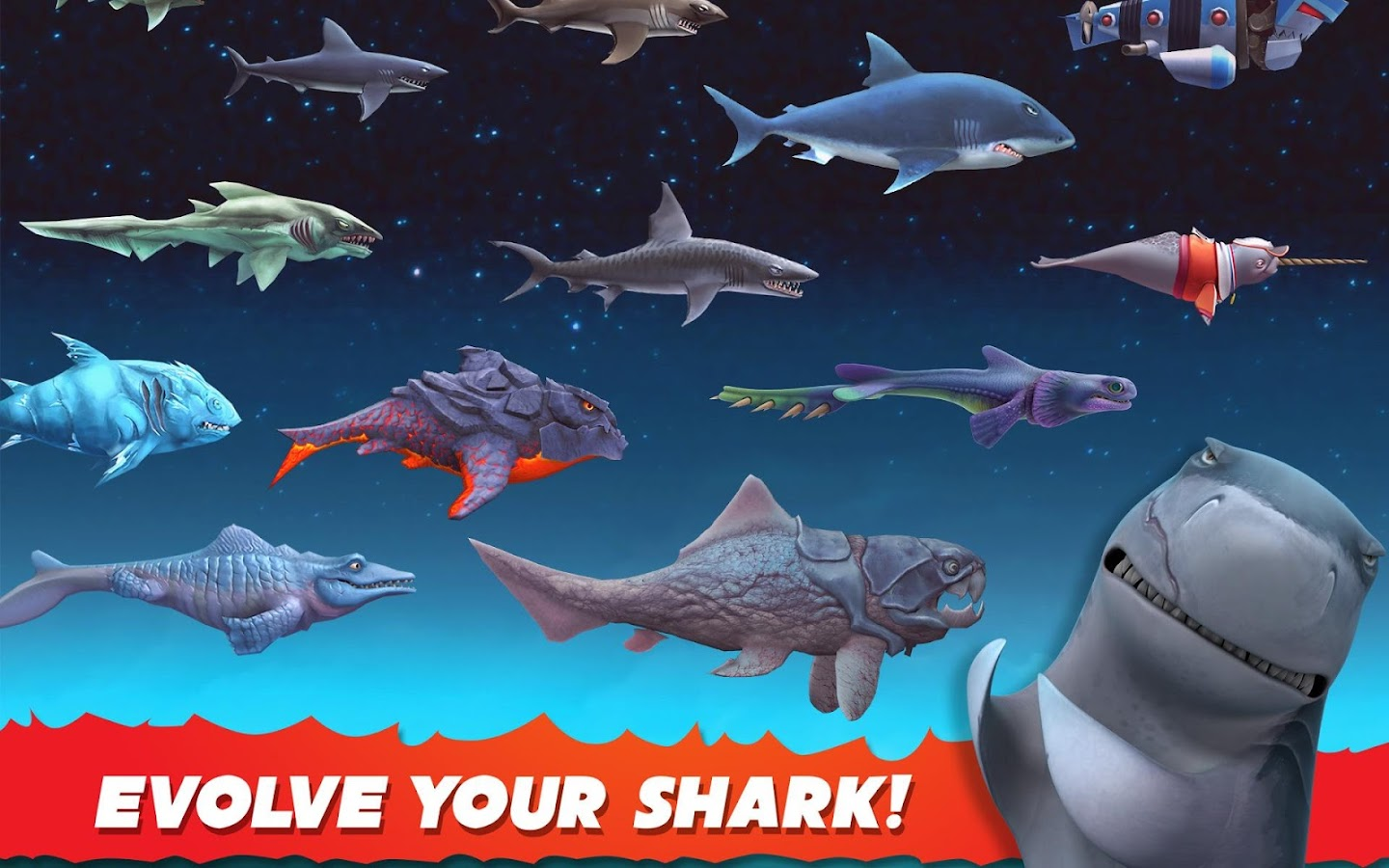 Hungry Shark evolution no wifi games for android phone