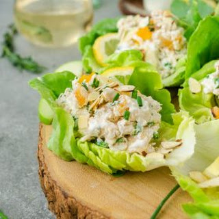Lemon Tarragon Chicken Salad Lettuce Wraps.