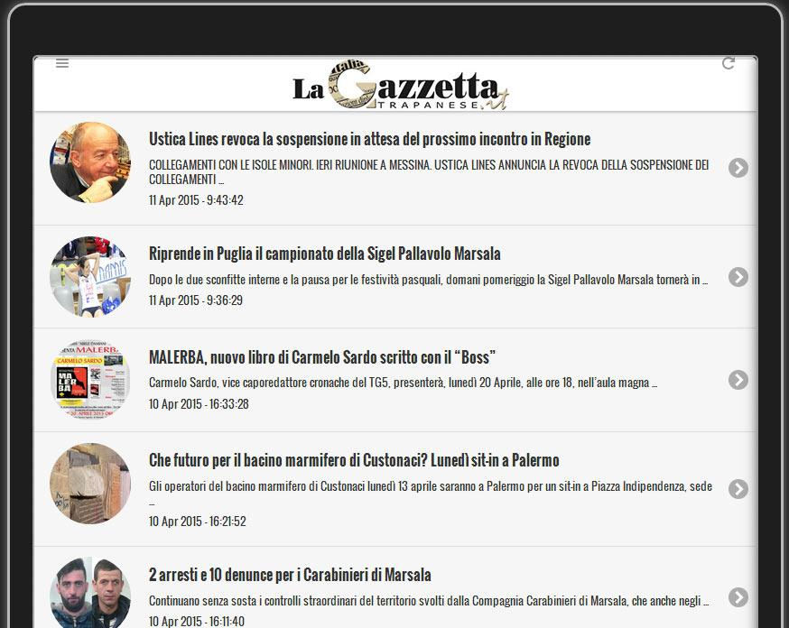 La Gazzetta Trapanese- screenshot