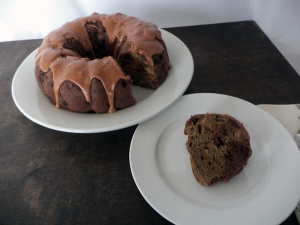 Melt caramel with water in microwave until pouring/drizzling consistency. Pour over cooled cake.