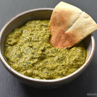 Basil Pesto Hummus Recipe