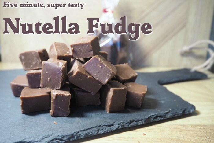 5 Minute Nutella Fudge Recipe