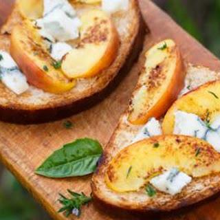 Peach and Blue Cheese Bruschetta