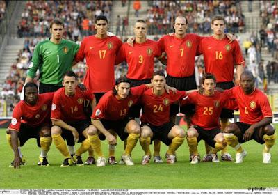 La composition des Diables Rouges face au Portugal en 2007
