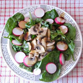 Wilted Spinach Mushroom Salad.