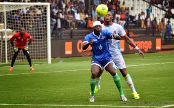 Photo: Alhassan 'Crespo' Kamara     [Leone Stars v DR Congo, 10 September 2014 (Pic © Darren McKinstry / www.johnnymckinstry.com)]