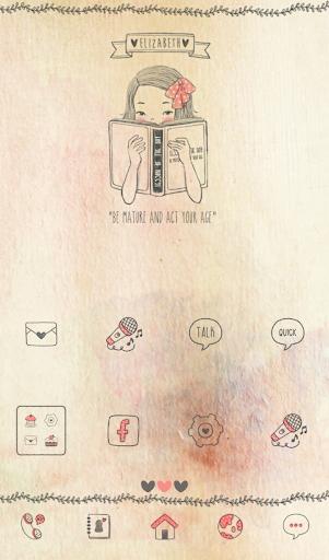 【免費個人化App】베쓰(수줍어) 도돌런처 테마-APP點子