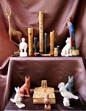 Photo: Las flautas son compradas (una bajo y una contralto marca Moeck). La talla fue realizada con posterioridad. Lo mismo se puede decir de la navaja. || Talla en madera. Woodcarving.   Puedes conocer más de este artista en el blog: http://tallaenmadera-woodcarving-esculturas.blogspot.com/
