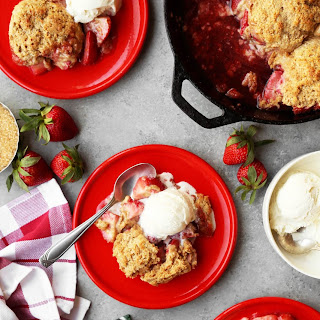 Strawberry Skillet Cobbler