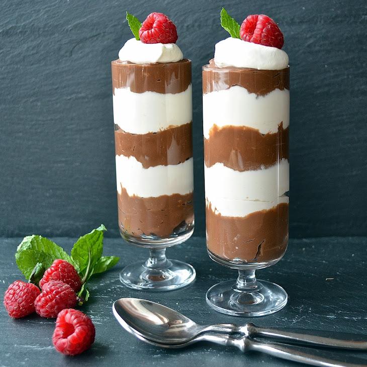 Chocolate Vanilla Whip Parfaits