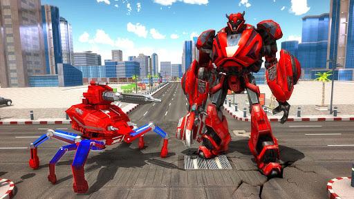 Spider Robot Car Transform Action Games  screenshots 5