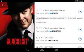 Screenshot of XFINITY TV Remote