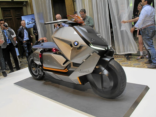 The BMW Motorrad Concept Link is a design study but the company has big plans for electrifying two-wheeled transport