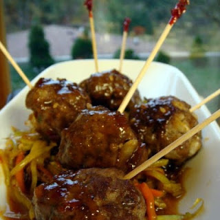 Sweet n Spicy Asian Style Meatballs