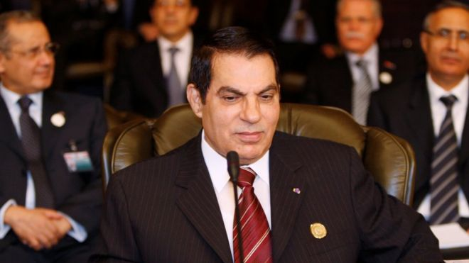 Image result for images of Ex-President of Tunisia, Ben Ali dies in exile