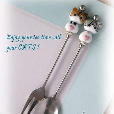 玻璃貓小餐具 #情人節禮物 #燈工玻璃 #餐具 #valentine #貓 #貓精品 #玻璃貓