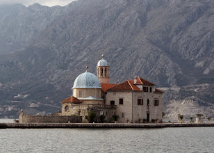 Photo: When we got back to Kotor, we went to Perast and took a boat to Our Lady of the Rocks.  This is the only man made isle in the Adriatic.
