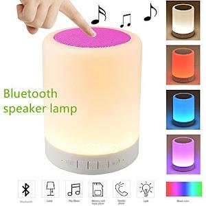 Boxa portabila Bluetooth 2 in 1 cu LED, Control Touch