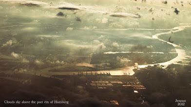 Photo: Clouds sky above the port city of Hamburg