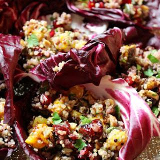 Cranberry Butternut Quinoa Salad with Hazelnuts, Dried Fruits & Pumpkin Seeds