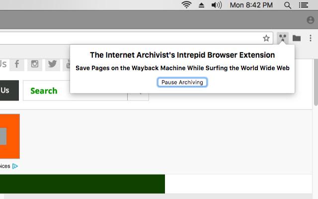 The Internet Archivist's Intrepid Extension
