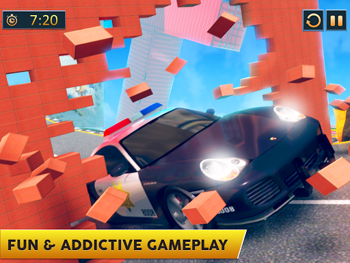 Ramp Police Car Stunts - New Car Racing Games screenshot 10
