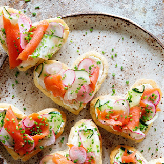 Valentines's Breakfast ~ Puff Pastry and Lox.