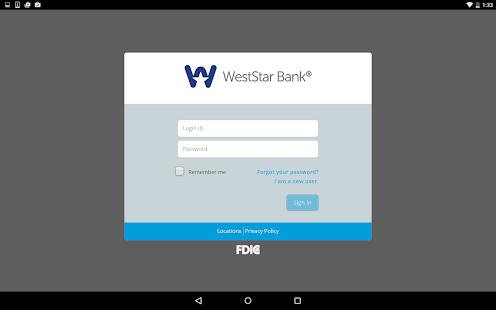 WestStar Bank Mobile Banking - screenshot thumbnail