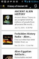 Screenshot of Ancient Alien History