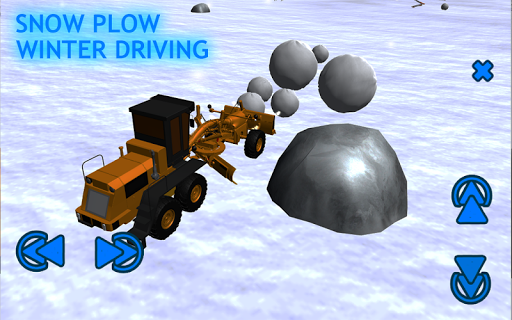 Snow Plow Winter Driving