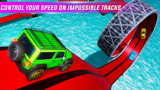 Mega Ramp Car stunts Impossible Tracks: GT Racing screenshots 3