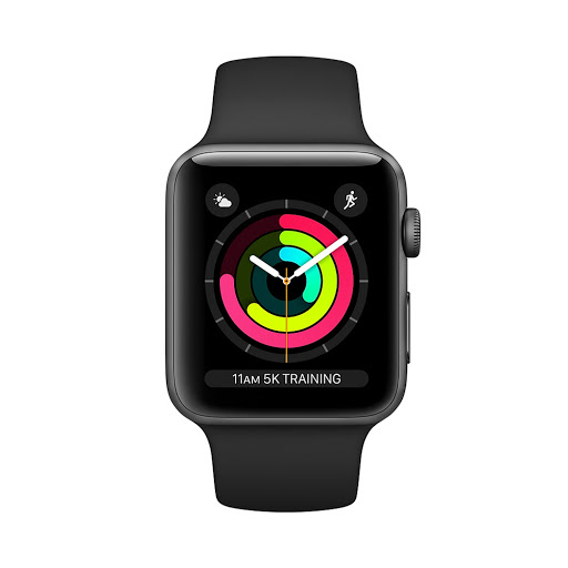 Đồng hồ thông minh/Apple Watch Series 3 GPS, 38mm Space Grey Aluminium Case with Black Sport Band (MTF02VN/A)