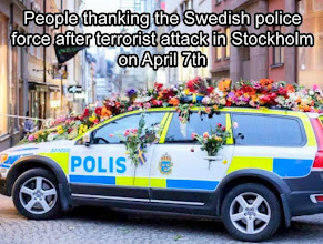 Photo: On 7 April 2017,  in central Stockholm, the capital of Sweden, a hijacked truck was deliberately driven into crowds along Drottninggatan. The attack took place at about 14:53 local time. Five people were killed and 14 others were seriously injured. Police considered the attack an act of terrorism. ~ Wikipedia