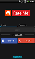 Screenshot of Rate Me