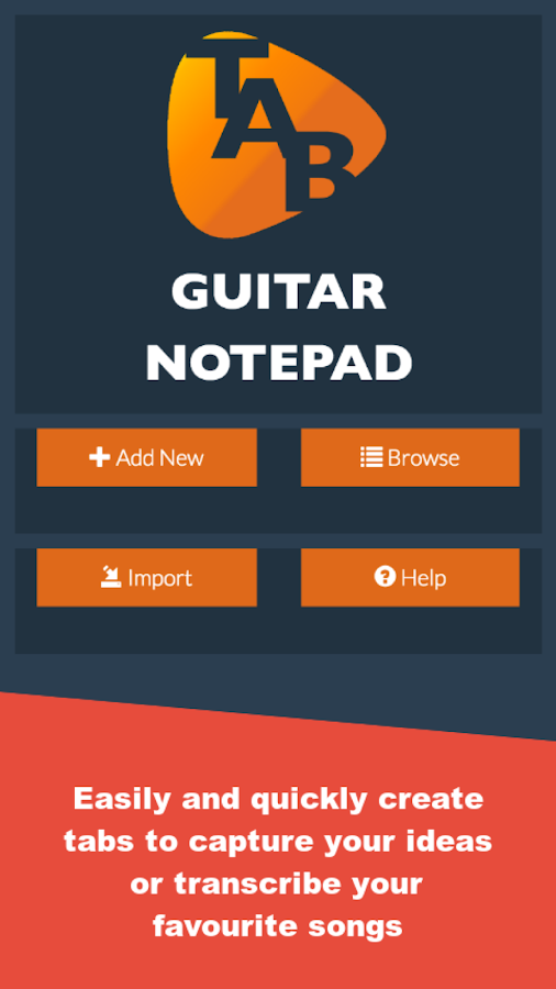guitar notepad tab editor android apps on google play. Black Bedroom Furniture Sets. Home Design Ideas