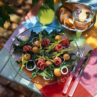 Melone-Rucola-Salat
