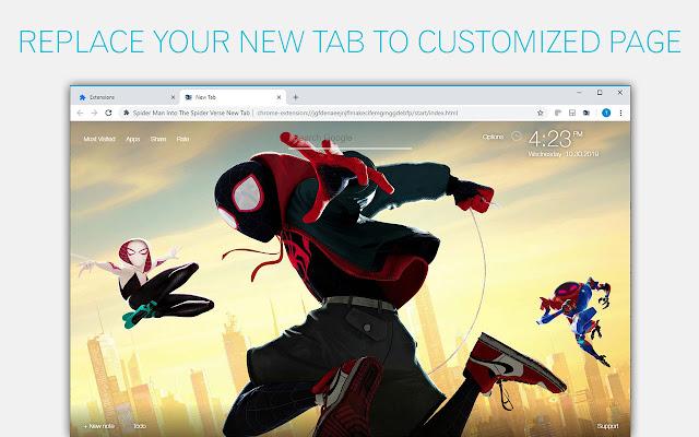 Spiderman Into The Spider Verse Custom NewTab