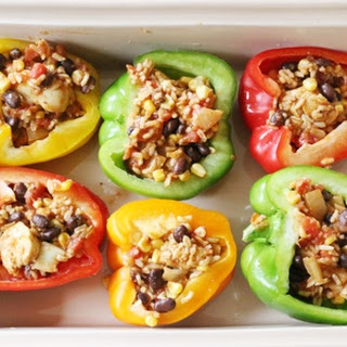 Chicken Fajita Stuffed Peppers.