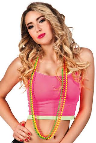Halsband, neonfärg 4st