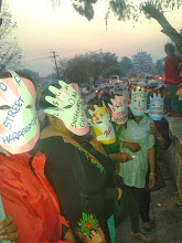 Photo: 3.31.14 Safe City Nepal demonstration for more street lamps & other safety measures